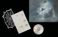 Airbrush Schablonen / Stencil 0613 verschiedene Spinnen mit Netz 1