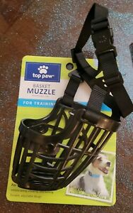 """Top Paw Basket Muzzle small fits muzzles 11"""" - 15"""" SMALL Training Plastic #103"""