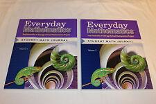 "Everyday Mathematics Grade 6 Student Math Journal ""Volumes 1 & 2"" Textbook Set"