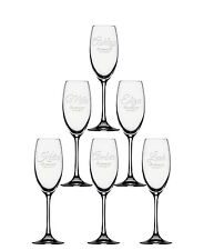 5x Champagne Flute, bridesmaid Champagne Glass, Personalized Toasting FluteGlass