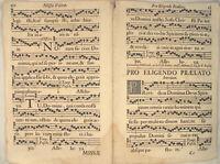 MUSIK Noten NEUMEN RIESEN Notenblatt um 1690 Doppelblatt Lieder singen CHORAL