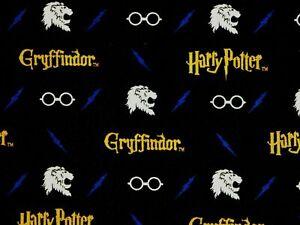 Harry Potter Fabric GRYFFINDOR House Lion Crest 1 Yard Cotton gryfindor wizard