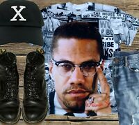 MALCOLM X HARLEM SUB.Black History t-shirts Black History Tees