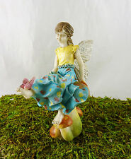 Closeout! Dollhouse Miniature Garden Fairy Girl Olivia with Butterfly, #66