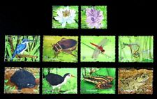 Singapore Stamp 2011 Definitives - Pond Life (Low Value), Flowers, Animals 池塘生物