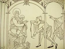 L'adoration des mages France XIe siècle Litho XIXe 1858 Hangard et Maugé
