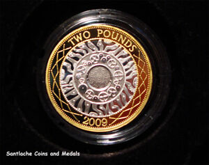 2009 ROYAL MINT SILVER PROOF TWO POUNDS COIN IN CAPSULE - Only 2012 Minted
