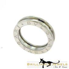 BVLGARI BULGARI B.zero1 One - Band White Gold Ring, Size 54 (B-7)