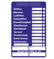 5 Stück SERVICE CHECK Aufkleber - Werkstatt - Wartung - Auto - Inspektion AN181
