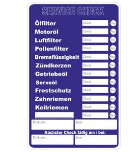 5 Stück SERVICE CHECK Aufkleber Werkstatt Wartung Auto KFZ  Inspektion AN300