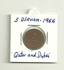 MONEDA DE 5 DIRHAM  QATAR AND DUBAI 1966
