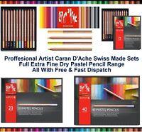Caran Dache Extra Fine Dry Pastel Pencils Sketching Artist Colour Art Case Set