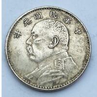 Cupronickel Silver Collecting Coin Yuan Shikai Head Ancient China Replica