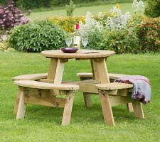 Katie Round Picnic Table - Zest Products - Free Delivery