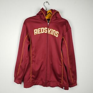 Women Washington Redskins XL Reebok NFL Full Zip Up Maroon Football Hoodie 16 18