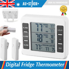 Wireless Digital Refrigerator Fridge and Freezer Thermometer With 2 Sensor