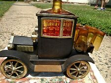 VINTAGE CAR 6 Glasses LIQUOR Decanter MUSIC BOX ,FORD 1915 MODEL T, Bar, EROTEX