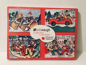 Eric Waugh Canadian Collection Placemats Boxed-Set of 4-Stone Age 2005 Art New