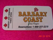 Barbary Coast Casino 00004000  Hotel Key Card Defunct Hotel
