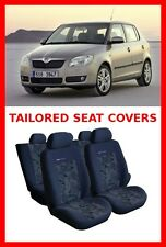 Skoda Fabia II  Tailored seat covers for Skoda Fabia full set grey/green   (110)
