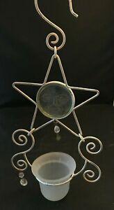 Vintage Metal Hanging Star Candle Holder