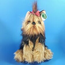 """NEW! The Bearington Collection CHEWIE Yorkshire Terrier 11"""" Stuffed Plush Dog"""