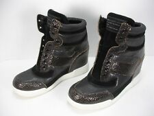 MARC BY MARC JACOBS CRACKLED LEATHER METALLIC LOW WEDGE SNEAKERS SHOE WOMEN'S 40