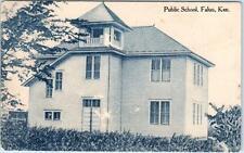 FALUN, Kansas  KS    PUBLIC SCHOOL  1910   Postcard