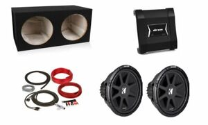 "JVC KS-AX5102 2-Channel Amplifier w/ 2) 12"" Subwoofers & Dual Sealed Box Package"