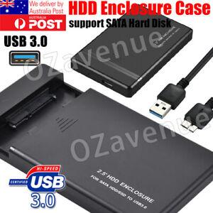 "USB 3.0 SuperSpeed External 2.5"" SATA HDD Hard Drive Anti Vibration Enclosure"