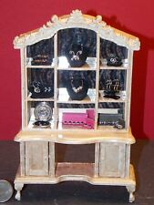 Dollhouse Miniature Victorian Jewelry Display Cabinet 1:12 one inch scale D27
