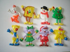 CHRISTMAS XMAS RUBBER FIGURINES SET BAULI ITALY FIGURES COLLECTIBLES MINIATURES
