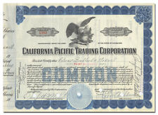 California Pacific Trading Corporation Stock Certificate