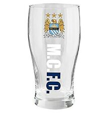MANCHESTER CITY FC WORDMARK PINT GLASS