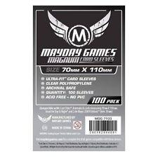 100 Bustine Protettive Sleeves Mayday Games 70x110 Giochi Tavolo