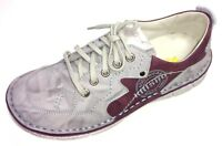 Krisbut Damen Schuhe Halbschuh Schnürer Schnürschuh Sneaker 2295-2-1 Leder grau