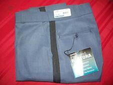 NEW Fechheimer Lightweight Medium Blue w Blk stripe Mens 37 Uniform pant #32285