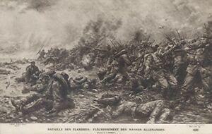 14-18 CPA Grande Guerre / Bataille des Flandres.................... / Superbe
