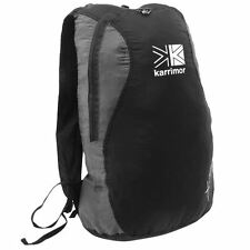 KARRIMOR BLACK PACKABLE FOLDAWAY LIGHTWEIGHT TRAVEL HIKING RUCKSACK BACKPACK BAG