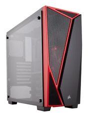 Corsair Carbide SPEC-04 Tempered Glass ATX Midi Tower PC Gaming Case Black Red