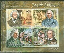 CENTRAL  AFRICA 2013 150th MEMORIAL ANNIVERSARY JACOB GRIMM  SHEET MINT  NH IMPF