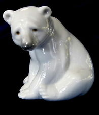 LLADRO #1209 POLAR BEAR SEATED BRAND NEW IN BOX CUTE WHITE SALE FREE SHIPPINGING