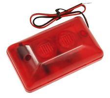 12V 108dB Alarmsirene Alarm Sirene Alarmanlage LED Blitzlicht Alarm Signalgeber