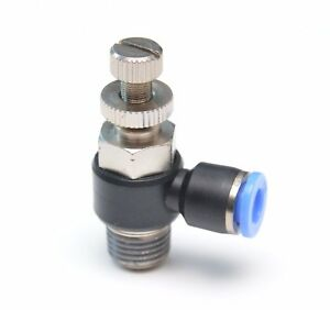 1/4 OD Tube x 1/4 Npt Male Speed Flow Control Elbow Push to Connect Meter Out