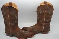 New Shyanne Women's Daisy Mae BBW11 Brown Distressed Leather Western Boots 11 M