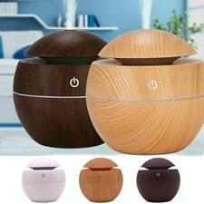 Aroma Essential Oil Diffuser Wood Grain Ultrasonic Aromatherapy Humidifier Home