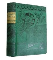 Romola George Eliot Antique 1884 Victorian Classic Green Decor Caxton Edition