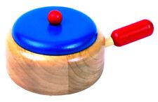 Stielkasserolle aus Holz, Kaufladenzubehör, Kinderküche accessoire