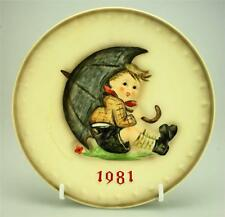 Vintage M.I. Hummel Goebel Umbrella Boy Hum 274 1981 11th Annual Plate