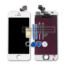 White Retina LCD Display Touch Digitizer Screen Frame Assembly For iPhone 5 / 5G